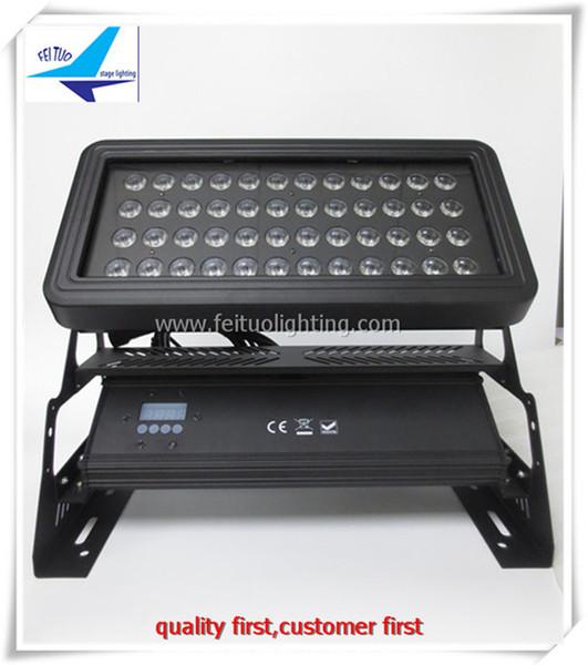 best selling 2 pcs power washer light 48x10w led wall washer dmx ip65 waterproof 4in1 rgbw flood light