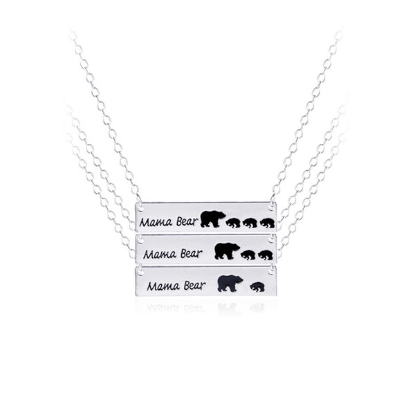 Mama bear necklace, mother's day gift, baby shower gift High Quality Brand Jewelry wholesale animal jewelry 161902