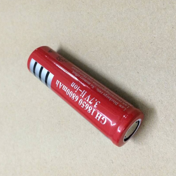 High quality UltraFire 18650 6800mAh Flat top Red 3.7 V lithium battery can be used in LED flashlight digital camera and so on