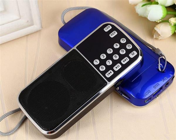 Nuova moda L-088 HIFI portatile Mini altoparlante MP3 Audio Player Amplificatore torcia Micro SD TF Radio FM nave di goccia