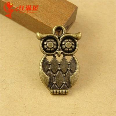 22*13MM Antique Bronze Vintage bird owl charm beads mobile phone accessories Korean, animal shaped jewelry, cheap animal pendant