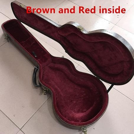 Marrone con interno rosso