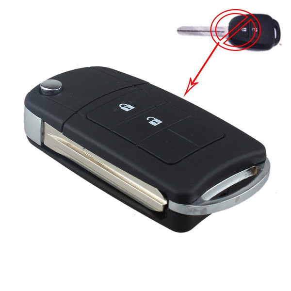 Guaranteed 100% 2 Buttons Uncut Flip Remote Key Shell Case Fob for Toyota RAV4 Corolla Avalon Free Shipping