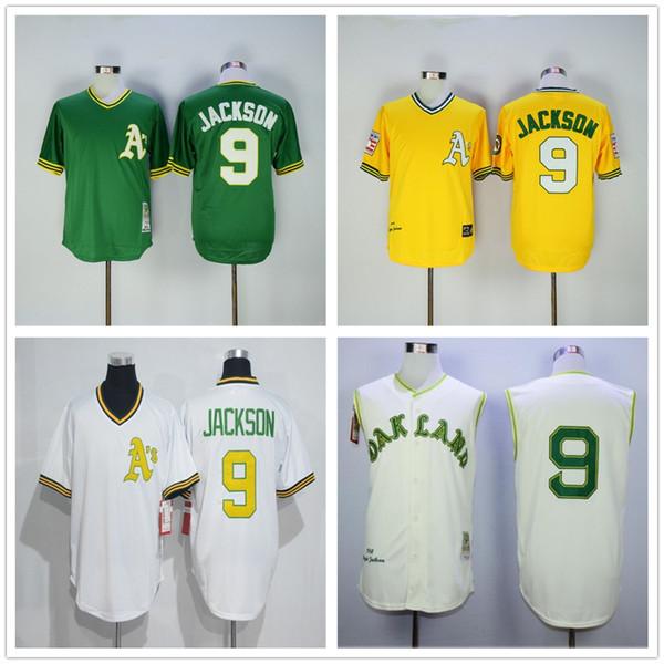 de5272ba2 ... reduced best quality 9 reggie jackson jersey cooperstown 1968 retro  oakland athletics reggie jackson baseball jerseys
