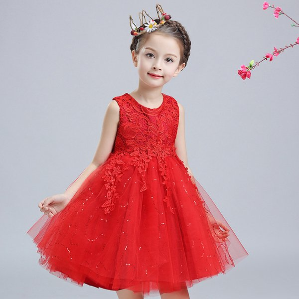 Free Shipping A-line Short / Mini Satin Sleeveless Boat Neck Cheap White Flower Girl Dresses Brithday Dresses with Lace BLB/A055