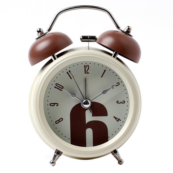 Creative mechanical alarm clock on the old clockwork copper movement of the horseshoe table students creative Bedside Alarm Clock