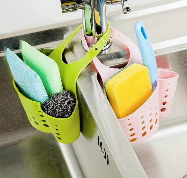 new multipurpose adjustable colorful pvc kitchen sponge cleaning cloth shelf storage rack holder organizador free shipping