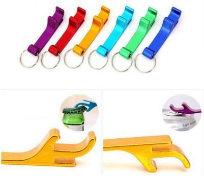 Portable Stainless Steel Bottle opener Key Chain Ring Aluminum alloy beer wine openers bar club waiter tools 2000Pcs/lot