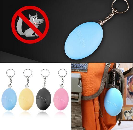 Электронная самозащита KeychainA larm Egg Shape Girl Women Anti-Attack Anti-Rape Security Защитите Alert Personal Security Scream Loud