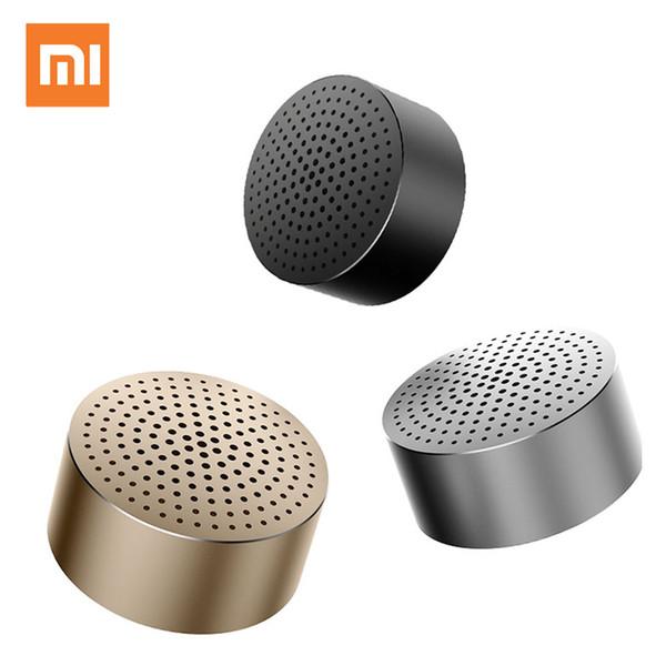 Wholesale- Xiaomi Loudspeaker Mi Bluetooth 4.0 Wireless Mini Portable Stereo Three Colors Handsfree Music Square Box Speaker