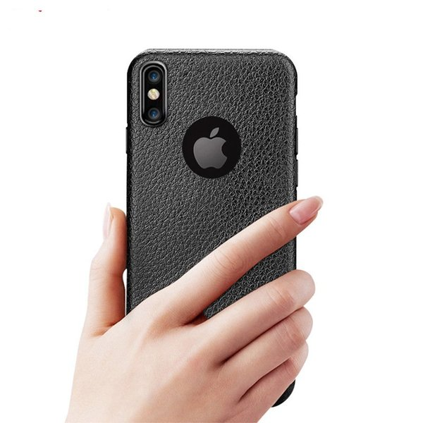 HOT Super Thin Leather Pattern Texture Phone Cases For iPhone xr xs max x 7 6S 8 Plus case Luxury iphone 8plus Soft TPU Comfort Back Cover