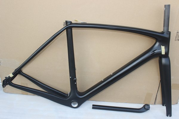 free shipping full carbon road frame size 49cm 52cm 54cm 56cm 58cm road bicycle, T1000 carbon frame glossy finish with fork seatpost headset