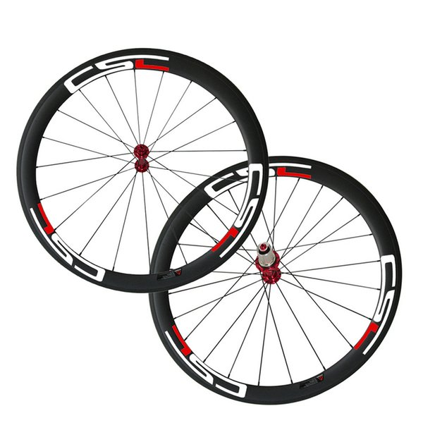 Decals Carbon Fiber Road Wheelset Clincher Wheels 50mm Depth 25mm Width R13 Hub Decal Bicycle Rims CSC Hot Sale