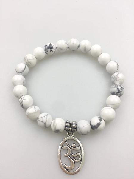 8MM Rose Quartz bracelet 3D coin pendant beads yoga bracelets mala bracelet beads Rose Quartz Fashion men and women bracelets
