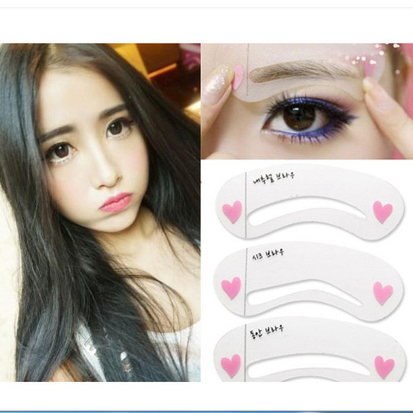 3 Styles Women Magic Eye Brow Class Drawing Guide Eyebrow Stencil Shaping Template Cosmetic Makeup Tools Accessories DIY