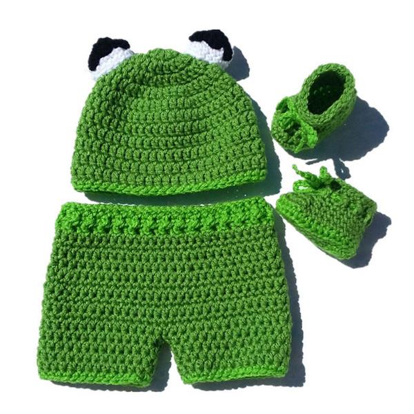 Großhandel Neuheit Neugeborenen Kermit Frosch Kostüm, Handgemachte ...