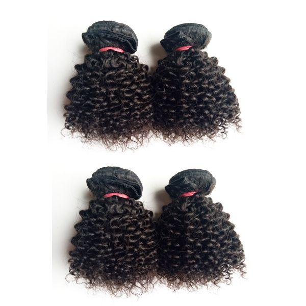 European Brazilian virgin Human Hair Kinky Curly Short type 6-12inch Malaysian Indian remy Hair weaves 50g/pc 300g/lot 6pcs double weft