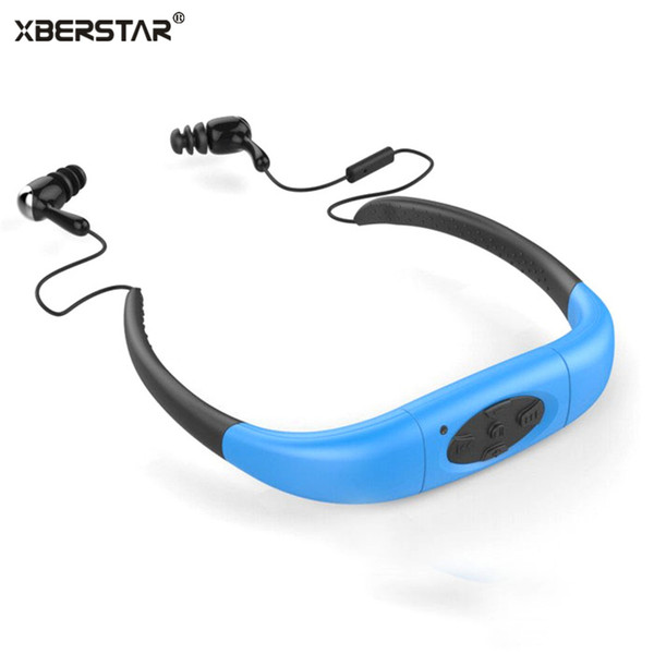 Wholesale- 2017 Version 4GB Waterproof IPX8 Sports MP3 Player Neckband FM Radio Swimming Surfing Running MP3 with Earphones Underwater
