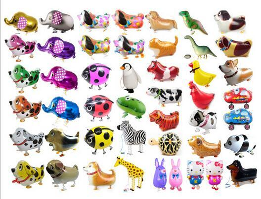 Walking Pet Animal Helium Aluminiumfolie Ballon Automatische Abdichtung Kinder Baloon Spielzeug Geschenk Für Weihnachten Hochzeit Birthday Party Supplies