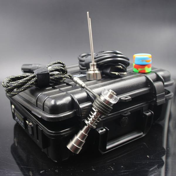 Prego barato D Prego Prego Elétrico Controlador de Cera PID Caixa TC Com 10mm 16mm 20mm Titanium Carb Cap Bobina de Unhas