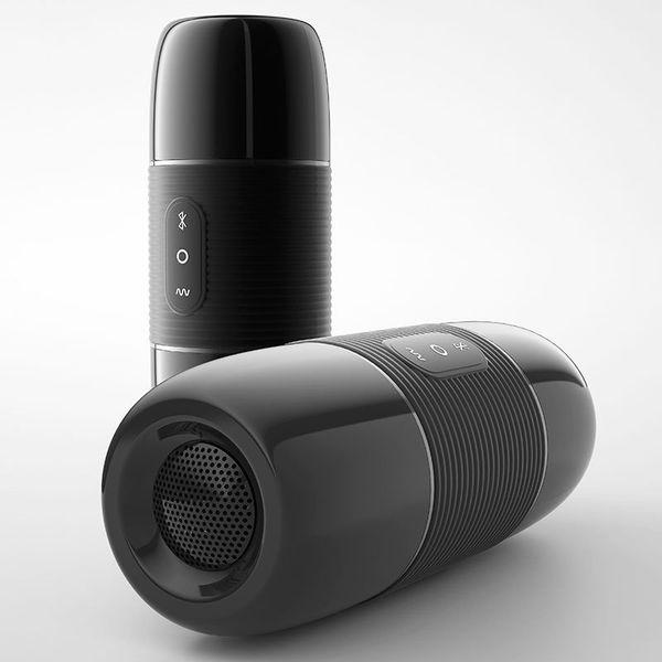 B2 WOWYES Intelligent Bluetooth Haut-Parleur Masturbateur Silicone Vagin Réaliste Poche Chatte Masturbation Mâle Tasse Sex Toys Pour Hommes