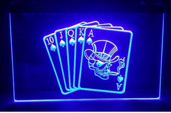 top popular Royal poker Sale beer bar pub LED Neon Light Sign home decor crafts 2021