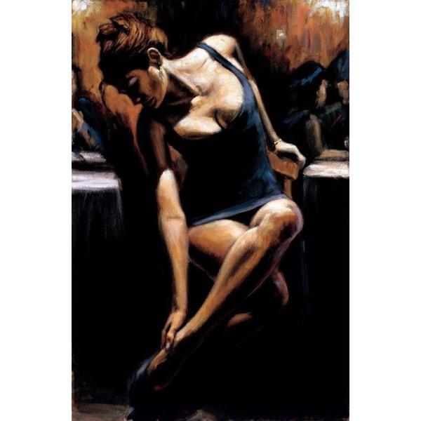 Handgemalte Frau Kunst Flamenco Tänzer Sophia Gemälde Öl auf Leinwand für Wanddekoration