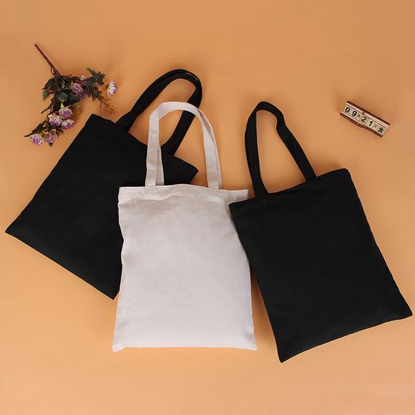 Borsa in tela bianca e nera di alta qualità, borsa in cotone, sacco, sacchetto di protezione ambientale, borse a sublimazione