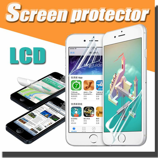 Transparent Clear LCD Screen Protector Guard Film with Cleaning Cloth For iPhone XS Max XR X 8 7 6 Plus 5 Samsung Note 9 S9 S8 Xiaomi Huawei