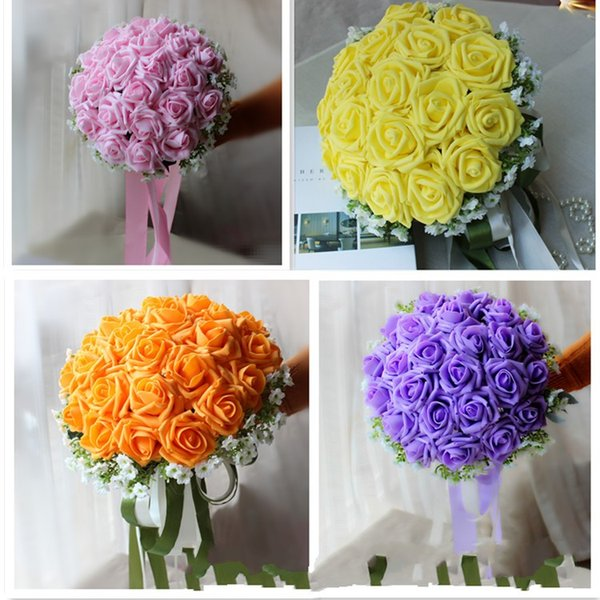 2017 wedding new arrival handmade flowers wedding bouquets pink 2017 wedding new arrival handmade flowers wedding bouquets pinkyelloworangepurple roses mightylinksfo