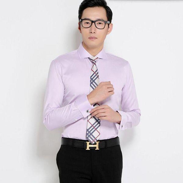 The latest design wedding dress shirt simple stylish men shirt high quality business formal groom tuxedo shirt