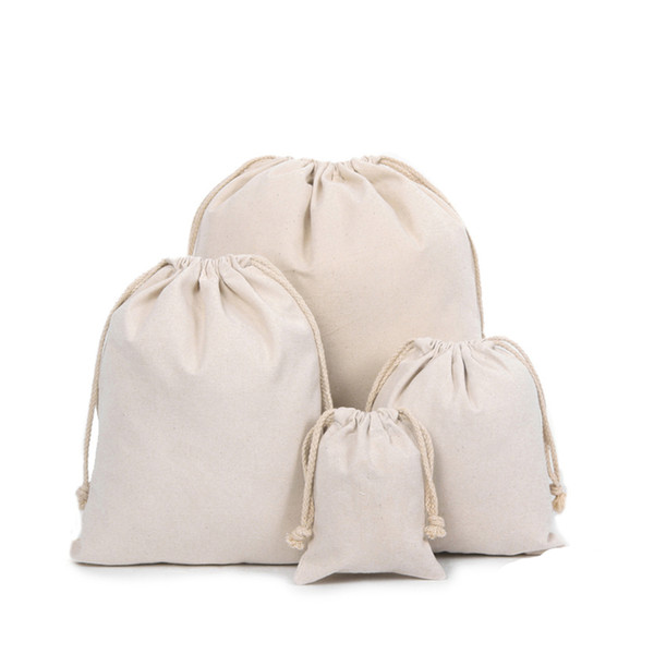 Wholesale Custom Nature Cotton Canvas Drawstring Bags With Thick ...