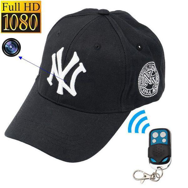 Mini Cap camera 32GB 16GB 8GB 1080P Full HD NY Baseball cap DVR Video recorder mini DV Security Surveillance Remote control hats Cameras