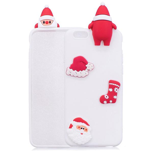 Lovely Christmas 3D Babbo Natale PaPa Phone Case per iPhone 5c Luminoso Soft Christmas Custodie per Galaxy S4