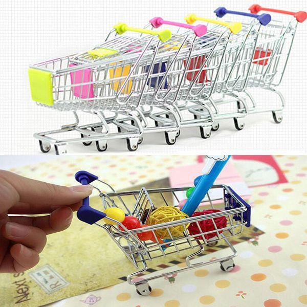 Mini Supermercado Carretilla de mano Cesta de la compra de artículos de uso general Cesta de la mesa de escritorio Juguete Nueva colección Envío gratuito de DHL WX-C27