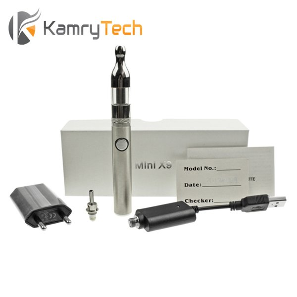 Wholesale-CLEARANCE SALE! Kamry Mini Electronic cigarette Starter Kit Mini X9 650mAh 2.0ml Vaporizer E Hookah Vape Pen Rechargeable