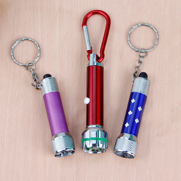 Five lamp flashlight portable key button lamp electronic promotion small gift wholesale