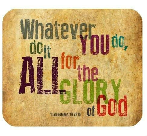 top popular Christian Bible Verse Mouse Pad, Whatever You do,do it All for the Glory of God.1Corinthlans 10 v31b, Mousepad Custom Freely Cloth Cover 2020