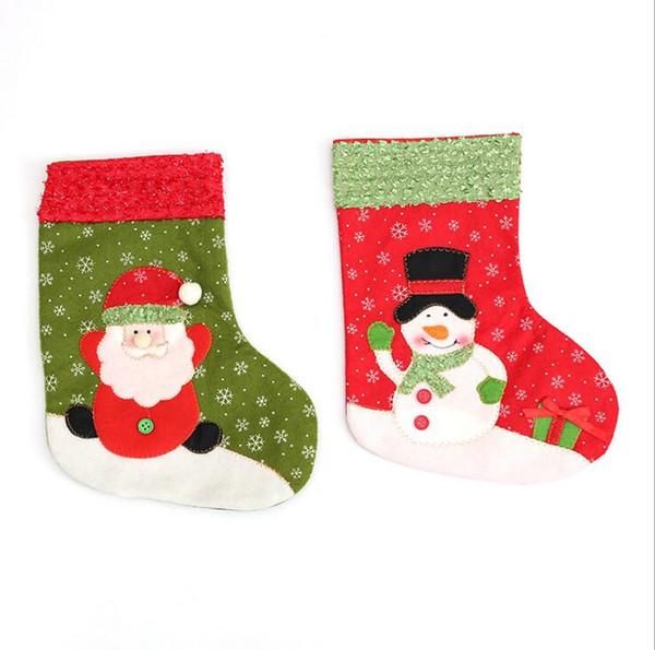 Рождественские чулки украшения Рождественский подарок носки чулки конфеты сумки дети дети подарок мешок рождественские украшения оптом
