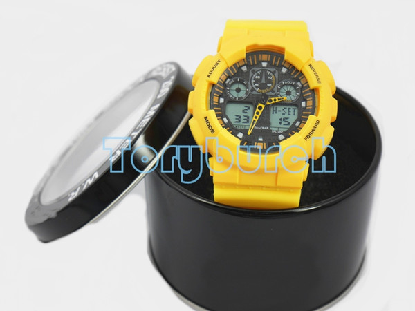 New g100 with box relogio cla ic men 039 port watche led chronograph wri twatch military watch digital watch fa hion gift for men