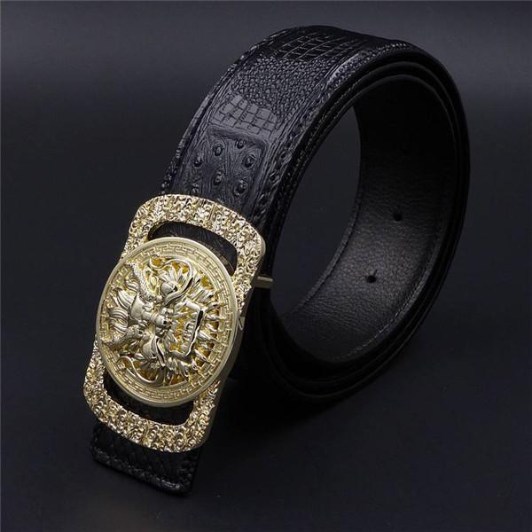 Gold buckle black