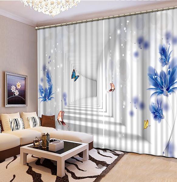 Acquista Fashion Decor Decorazione Domestica Camera Da Letto Tenda  Soggiorno Alta Qualità Personalizza Dimensioni Tende Moderne Soggiorno  Tenda 3d A ...