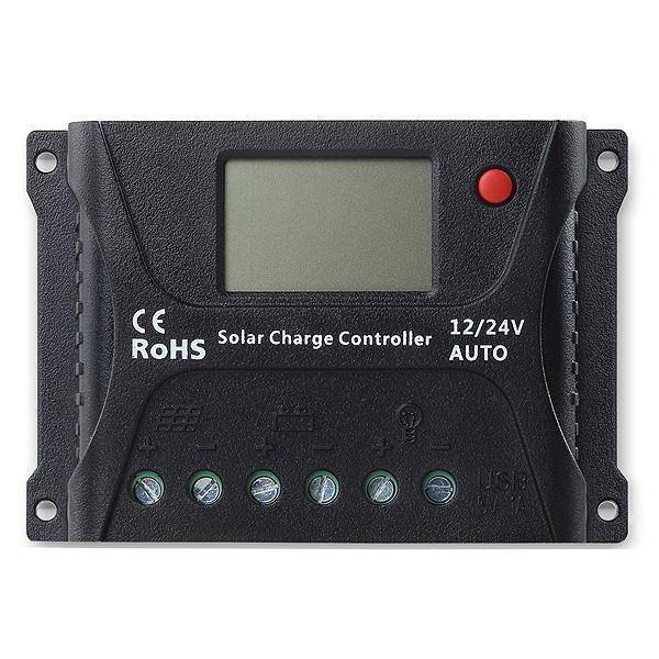 PWM 12V/24V 20A solar charge controller with LCD display