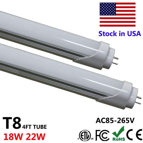 LED-Licht 4FT T8 Tube Lights 4 Fuß 18W 22W 28W LED-Röhren Leuchtstofflampe SMD 2835 Bleirohr T8 120cm
