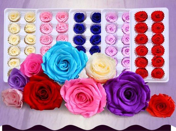 12pcs 3-4cm fiore conservato bocciolo di rosa testa per festa di compleanno festa di compleanno regalo di san valentino favore