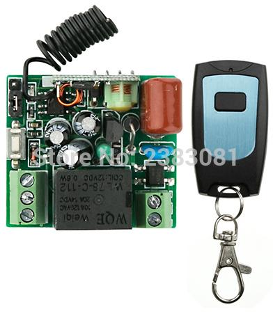 Wholesale- latest AC220V 1CH 10A Remote Control Light Switch teleswitch Relay Output Radio Receiver Module and Waterproof Transmitter