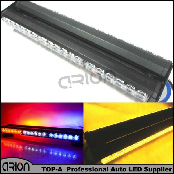 """18"""" Both Side 108W 36 LED Emergency Warning Car Traffic Advisor Strobe LightBar Beacon Roof Flashing Light Red Blue Amber White"""
