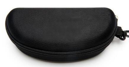best selling hard case Zipper Hook Sunglasses Box Compression Glasses Case Black Metal Plastic Sports sun glasses case box free shipping