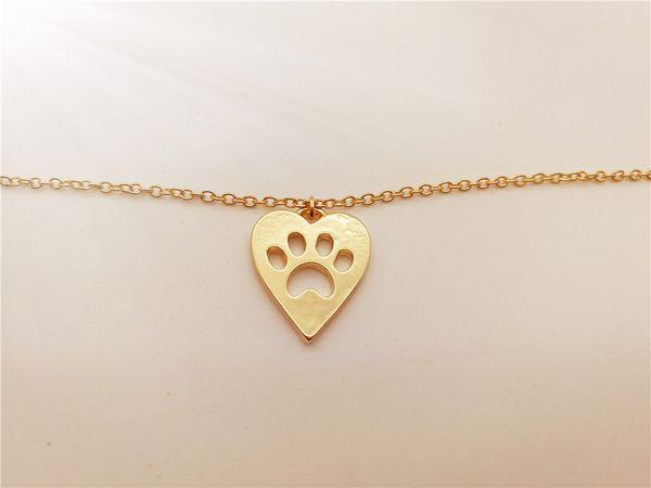 10PCS- B062 Cute Pet Heart Paw Bracelet Love Heart and Paw Bracelet Memorial Animal Puppy Bear Cat Dog Palm Print Bracelets