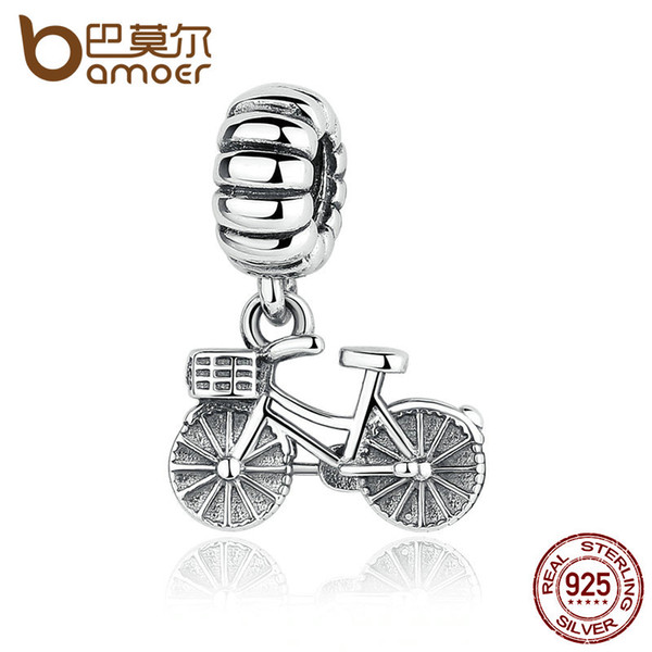 Pandora Style 925 Sterling Silver Lovely Bicycle Charms fit DIY Bracelets Cute Charms for Baby & Women Jewelry PAS327